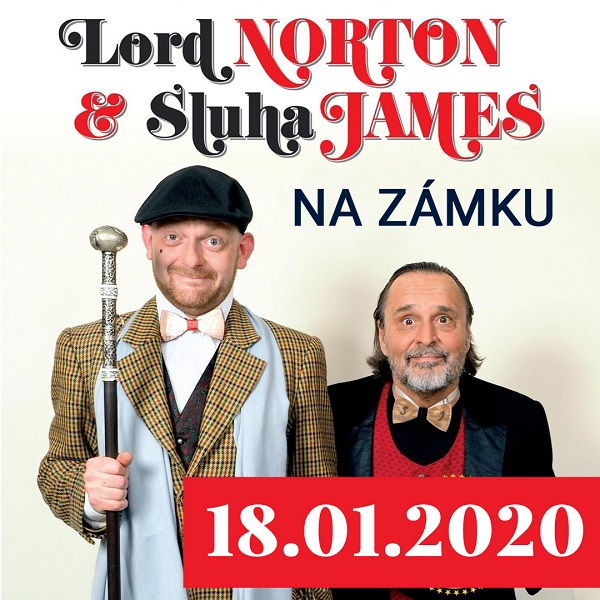 LORD NORTON A SLUHA JAMES  na zámku