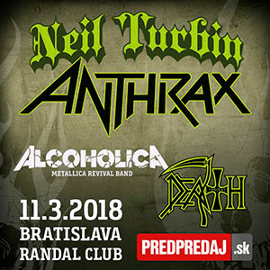 Neil Turbin (ex Anthrax), Alcoholica, Death Revival - ZRUŠENÉ