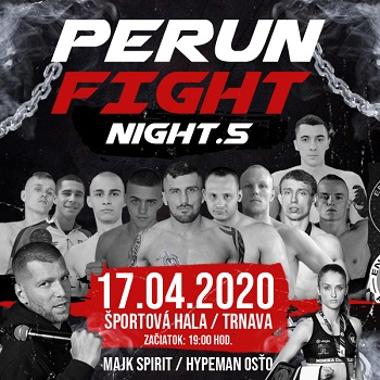 PERUN FIGHT NIGHT 5 - ZRUŠENÉ