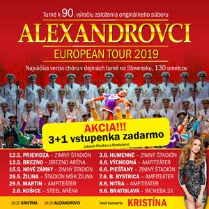 6fb0b3408ca73 ALEXANDROVCI EUROPEAN TOUR 2019 - Žilina - vstupenky | Predpredaj.sk