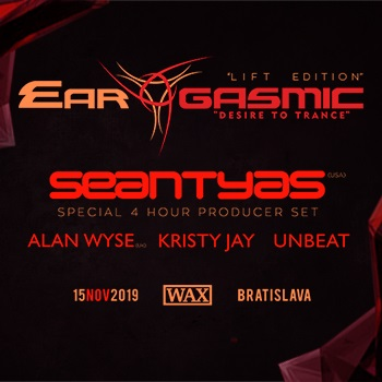 "EAR-GASMIC ""Lift Edition"" with SEAN TYAS [4 hour producer set]"