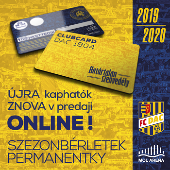 permanentka DAC 2019/20 ; 2019/20-as DAC szezonbérlet