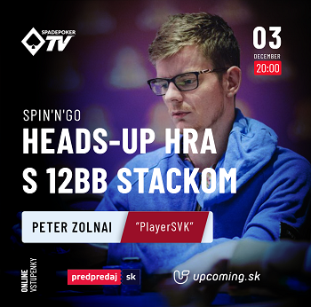 |SP+| Peter Zolnai: Spin'n'Go - Heads-up hra s 12bb stackom