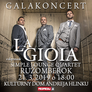 Galakoncert La Gioia v doprovode Simple Lounge Quartet