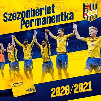 permanentka DAC 2020/21 ; 2020/21-as DAC szezonbérlet